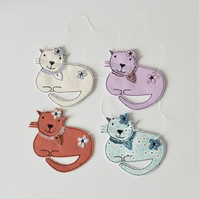 Cat with Paws Tucked In - Hanging Decoration