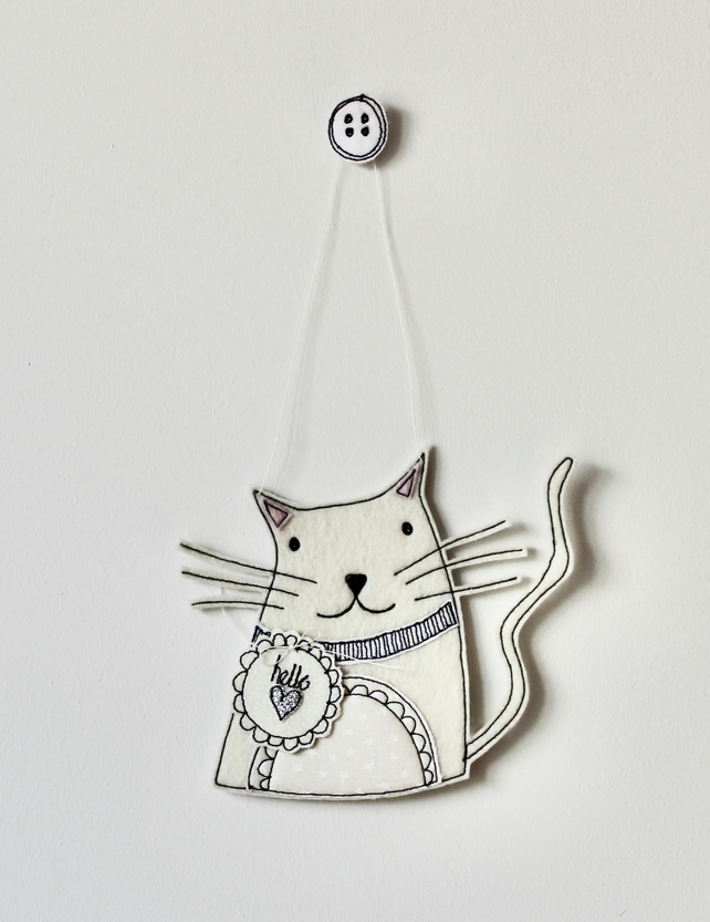 Special Order for Sherry - 'Kitty Cat' - Hanging Decoration