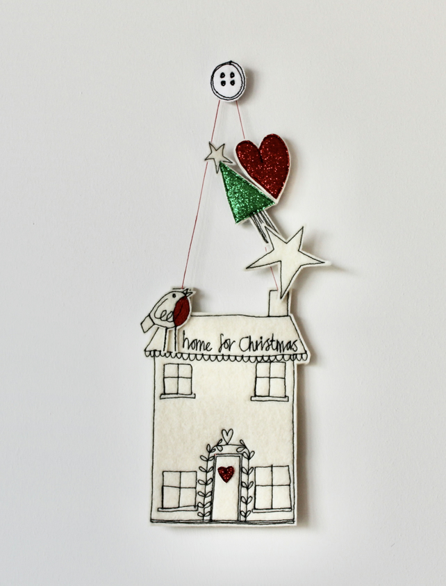 'Home for Christmas' - Hanging Decoration