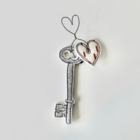 'Key to my Heart' - Hanging Decoration