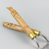 Garden Toolset with hand-carved English Apple Wizard Handles