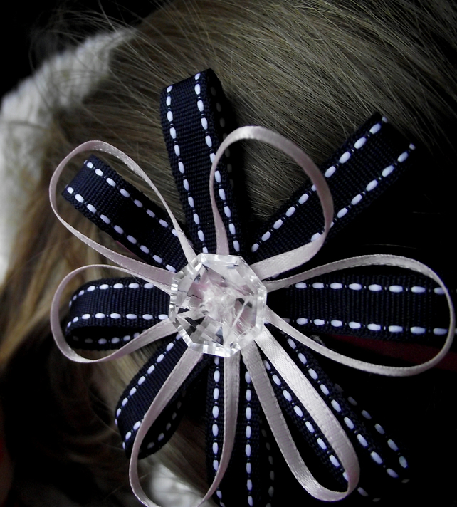 Ribbon flower hairband.