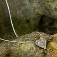 My heart sterling silver necklace