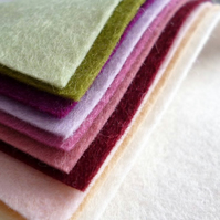 MUTED Wool Blend Felt Pack 10 colours
