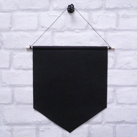 DIY felt BANNER flag for you to decorate : Black