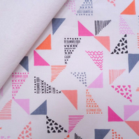 Pastel Geo fabric felt : Just Right on White