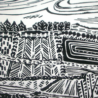 Fallowfield original lino print
