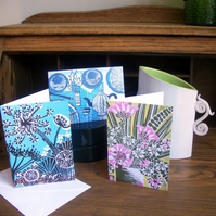 Pack of 3 greetings cards no.1