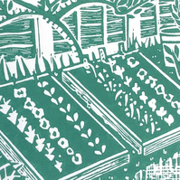 Grow your own lino print.