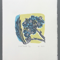 SALE Seed Ball LinoPrint
