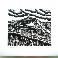 Chrome Hill Lino print