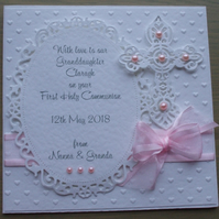Handmade Personalized First Holy Communion Card