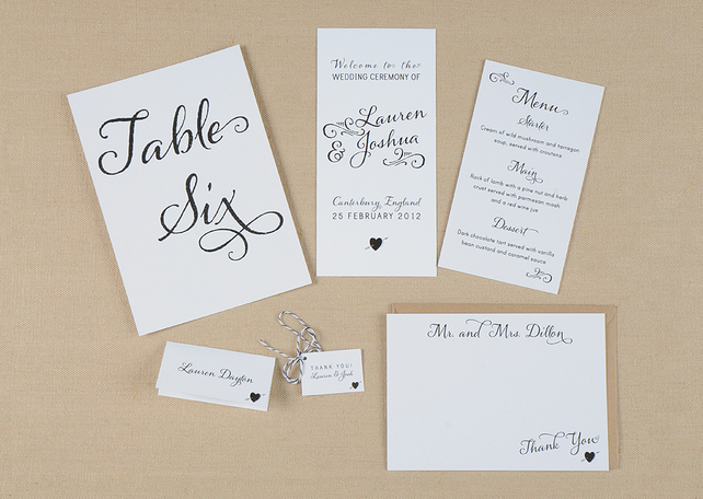 Whimsical Wedding Day-Of Stationery