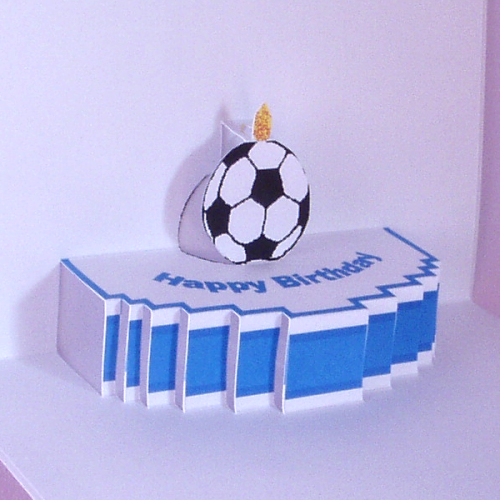 Astonishing Pop Up Birthday Cake Card With A Football Theme Folksy Personalised Birthday Cards Petedlily Jamesorg