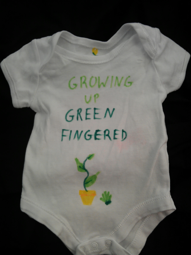 Green fingered vest