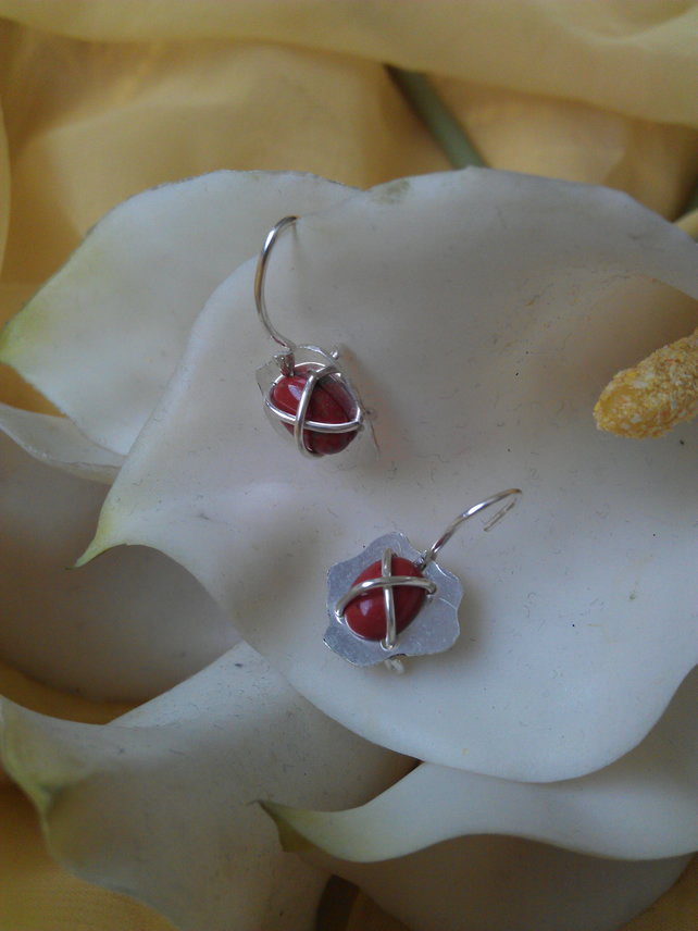 "Jasper ""x"" earrings"
