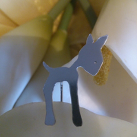 Deer pin brooch