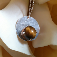 Tigers eye circle necklace