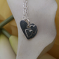2 Heart  sterling silver necklace