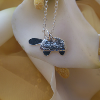 Tortoise sterling silver necklace