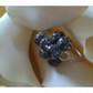 Rolled agate elasticated sterling silver ring