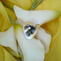 snowflake obsidian plectrum necklace