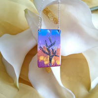 sunrise sunset sterling silver necklace