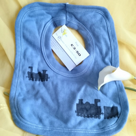 train pull over cotton bib