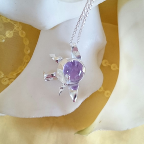 amethyst sterling silver melted side sun