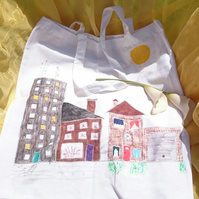 Houses cotton tote bag