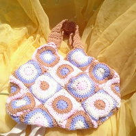 Crochet circles bag
