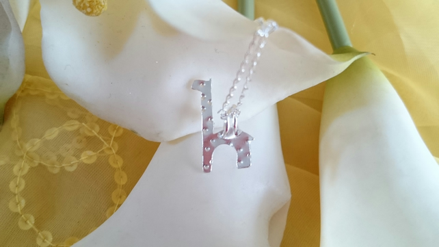 Giraffe sterling silver necklace