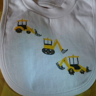 Three diggers bib