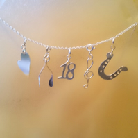 Occasions charm sterling silver necklace