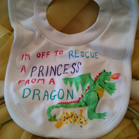 Rescue a princess bib