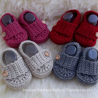 Handmade Crochet Baby Booties - Bootees - Size 3-6 Months - Great Gift Idea