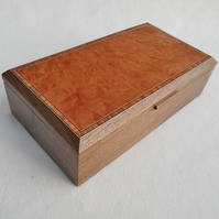 Handmade Wooden Jewellery Box - Solid Walnut & Madrona Burr,