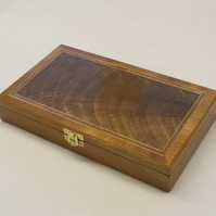 Jewellery Box - Solid Cherry with Walnut Curl veneered top