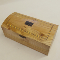 Handmade Solid Wood Jewellery Casket - Solid Elm