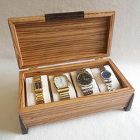 Watch Box - Handmade in Zebrano.