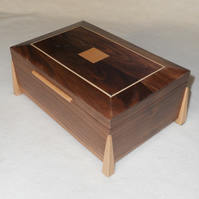 Jewellery Box ,Handmade in Solid Walnut