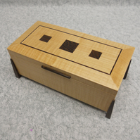Watch and Earring box in Sycamore and Wenge.