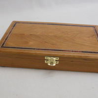 Earring box in solid Cherry