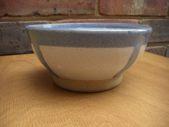Hand Thrown Blue and White Stoneware bowl