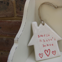 Personalised House Hanger