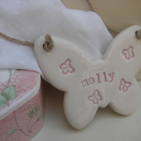 Personalised Butterfly Hanger
