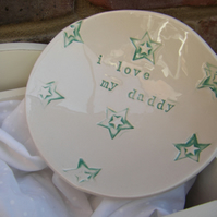 Personalised Star Design Bits and Bobs Dish
