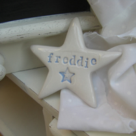 Personalised Star Shaped Ceramic Magnet