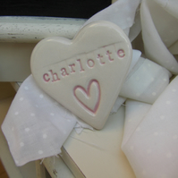 Personalised Heart Shaped Ceramic Magnet