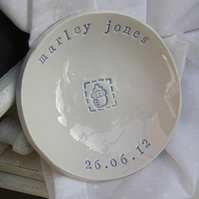 Personalised New Baby Small Dish